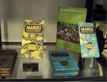 I was drawn to the pretty packaging of these Marou bars - so shiny!