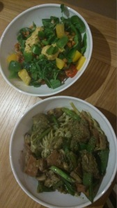 Pesto Pasta and Salad