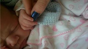 Midnight and newborn Mia